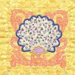 Floral Block Applique embroidery design
