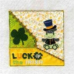 Irish Dragon Block embroidery design