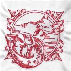 Western Cow embroidery design