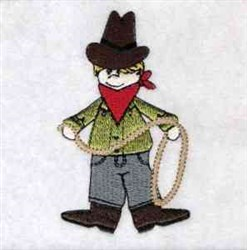 Wild West Cowboy embroidery design