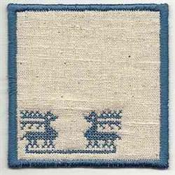 Folk Art Reindeer embroidery design