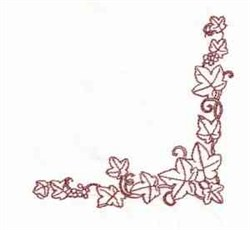 Grapes Leaves Corner embroidery design