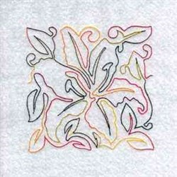 Line Art Lilies embroidery design