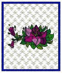 Spring Flowers Picture embroidery design