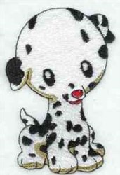 Dalmation Pup embroidery design