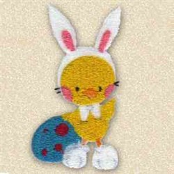 Chicken Easter Bunny embroidery design