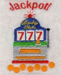 Jackpot! embroidery design