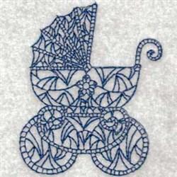 Bluework Vintage Baby Pram embroidery design