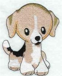 Beagle Puppy embroidery design