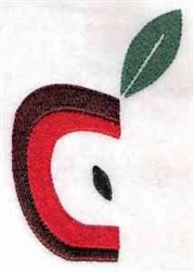 Half Apple embroidery design