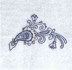 Bluework Paisley Design embroidery design