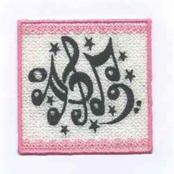 Music Candlewrap embroidery design