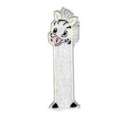 Zebra Bookmark Applique embroidery design