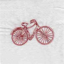 Redwork Bicycle embroidery design