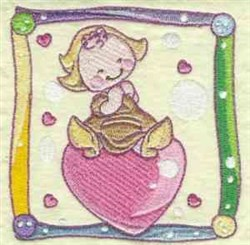 World Baby embroidery design