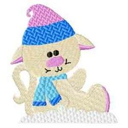 Frosty Kitten embroidery design