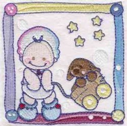 Baby Quilt Square embroidery design