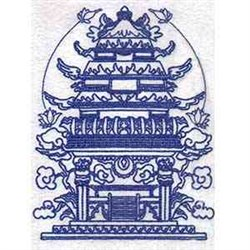Bluework Pagoda embroidery design