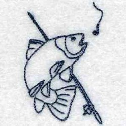 Bluework Fish embroidery design