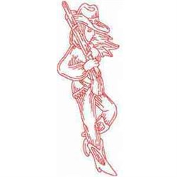 Redwork Cowboy embroidery design