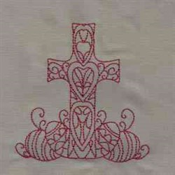 Redwork Cross embroidery design