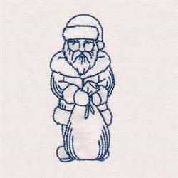 Bluework Vintage Santa embroidery design