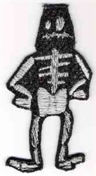 FSL Halloween Skeleton embroidery design