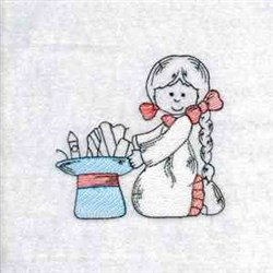 Independence Day Girl embroidery design