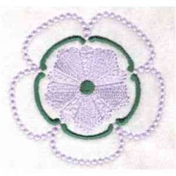 Candle Wicking Flower embroidery design