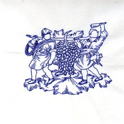 Bluework Wine Grapes embroidery design