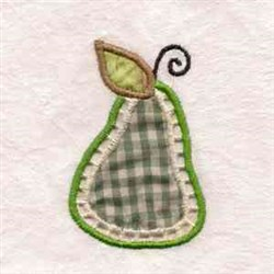 Pear Applique Cutout embroidery design
