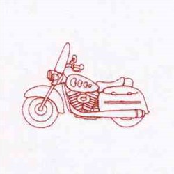 Redwork Motorcycle embroidery design