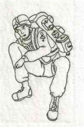Bluework Soldier embroidery design