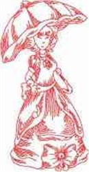Victorian Lady embroidery design
