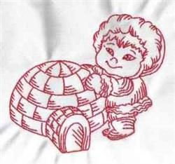 Redwork Eskimo embroidery design