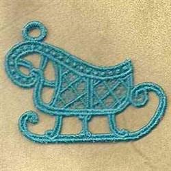 FSL Sleigh Ornament embroidery design