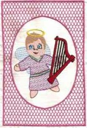Funny Angel Quilt Block embroidery design