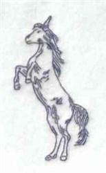 Bluework Unicorn embroidery design
