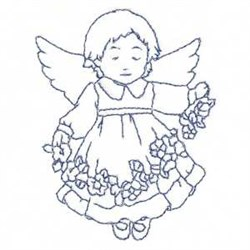 Bluework Child Angel embroidery design