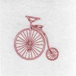 Redwork Vintage Bike embroidery design