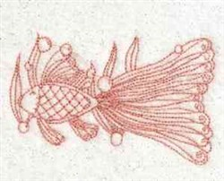 Redwork Fish embroidery design