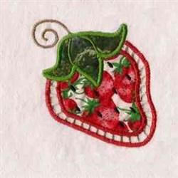 Strawberry Applique Cutout embroidery design