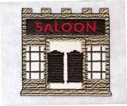 Wild West Saloon embroidery design