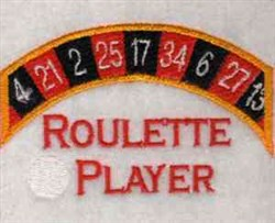 Roulette Wheel embroidery design