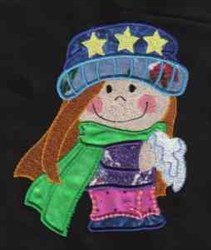 Winter Girl embroidery design