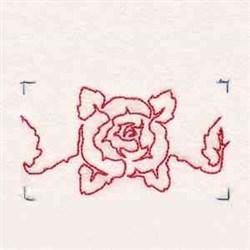 Line Art Rose Border embroidery design