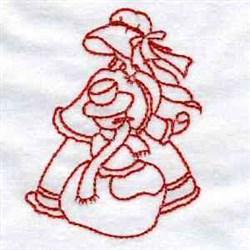 Winter Sunbonnet Girl embroidery design