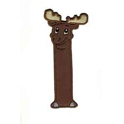 Moose Bookmark Applique embroidery design