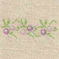 Cross Stitch Floral Border embroidery design