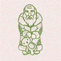 Greenwork Vintage Santa embroidery design